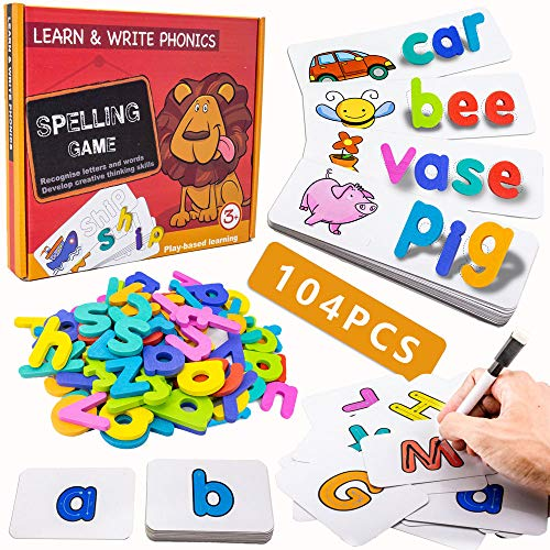 Spelling Game for Kids, See and Spell Write Learning Skills Montessori...
