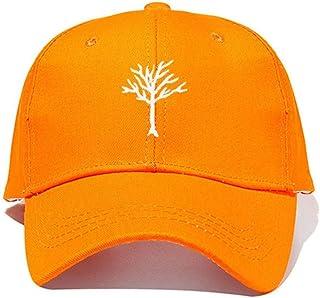 ZWFMX Hat Casual Hip-hop Rebound Cap Ladies Men's Cotton Baseball Cap Outdoor Golf Cap Fashion (Color : Orange)