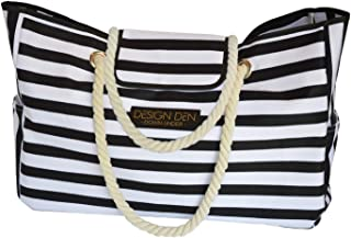 Women's Beach Tote Bag   XXL   Pool   Weekender   Reusable Shopping Bag   Maternity and Diaper   Gym   Water Resistant   2...