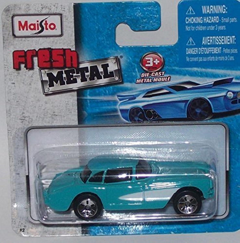Maisto Fresh Metal Die-Cast Vehicles  1957 Chevrolet Corvette (Blau)