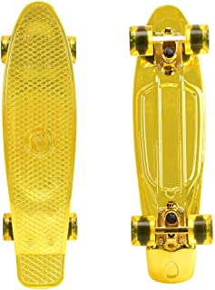 ChromeWheels Skateboards 22 inch Complete Skateboard Deck Mini Cruiser for Kids Boys Youths Beginners Adults