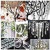 10ピースアクリルビーズシャンデリアブライダルシャワー独身パーティー記念日クリスマスウェディングセンターピースケーキスタンド装飾