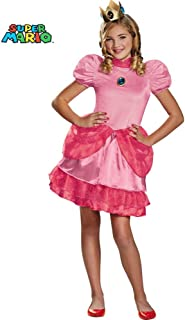 Nintendo Super Mario Brothers Princess Peach Tween Costume, Medium/7-8