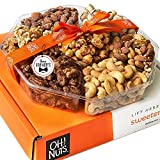 Oh! Nuts Holiday Gift Basket, Over 1LB 7 Variety Roasted Nut Fresh Assortment Tray, Gourmet Food Gifts Prime Delivery, Healthy Food Tray Gifting Idea, Snack Box for Men and Women