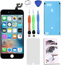 for iPhone 6S LCD Screen Replacement 4.7 inch Black, 3D Touch Screen Display Digitizer Repair Kit Assembly with Complete Repair Tools and Screen Protector