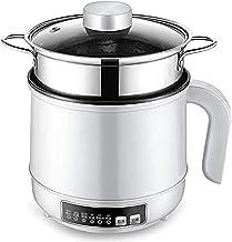 LLDKA Cuisinière à Riz, Pot électrique électrique, Mini Wok électrique, avec Vapeur, cuisinière à Riz Domestique 600W, dor...