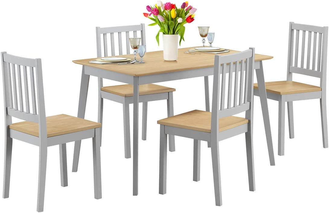 Giantex 5 Piece Dining Table Set It is very popular Chairs 4 Indianapolis Mall Kitchen with Wood Tab