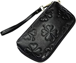 Women's Leather Cell Phone Wristlet Wallet-Welegant Zipper Clutch Purse Bag for iPhone Samsung