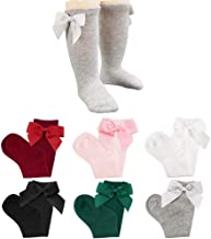 knee length socks with bows