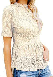 Sizes Small-XL *Sale* Ladies//Womens Cream Long Sleeved Fitted Lace Top