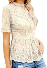 Best champagne lace top Reviews