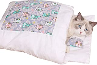 Cat Sleeping Bed Winter Removable Anti-Slip /& Super Warm Pet Cave with Zipper fit Below 10kg Ultra Soft /& Comfort cat Bag with a Pillow