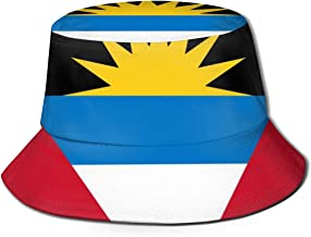 CHEERPEACETIME Fisherman Bucket Caps Flag of Antigua and Barbuda Unisex Beach Sun Hat Wide Brim
