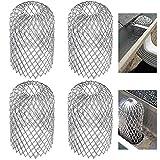 TXErfolg Paquete de 4 Protectores de Metal para Canalones Filtro Extensible Colador de Hojas Protectores de Protección de Bajante para Canalones