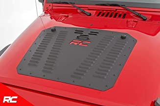 Rough Country Hood Louver Compatible w/ 2007-2018 Jeep Wrangler JK Powder Coated 10527