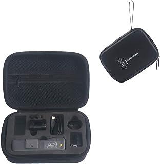 3 pezzi Linghuang Custodia protettiva in silicone con cappuccio Len e cinturino da collo per DJI Osmo Action nero