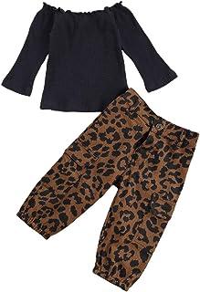 LZCYILANXIULSL طفل رضيع فتاة الخريف الملابس قبالة الكتف متماسكة البلوز قمم وبنطلون جينز أزياء الأطفال