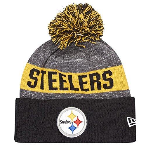 New Era NFL Sideline Bommelstrick Pitste OTC – Cap Line Pittsburgh Steelers für Herren, Farbe Schwarz, Größe OSFA