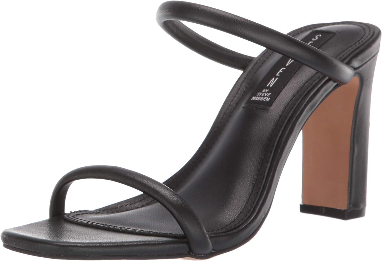 STEVEN by Steve Madden Womens Jersey Heeled Sandal