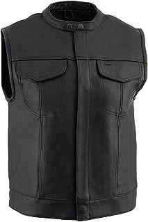 Milwaukee Men's Collared Concealed Snap Vest (Black, 5X-Large)