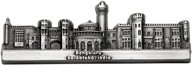 Bengaluru Palace Metal Fridge Magnet (Pewter)