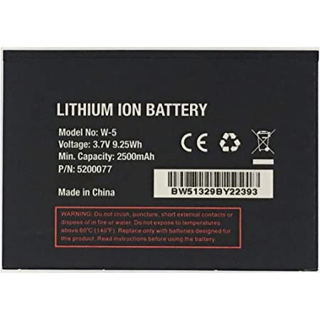 JIE Replacement W-5 Battery for Sprint AirCard 770S, AirCard 771S AT&T Unite (AC770S), UNITE-344B Mobile WiFi Hotspot Netgear 5200031 5200060 5200077