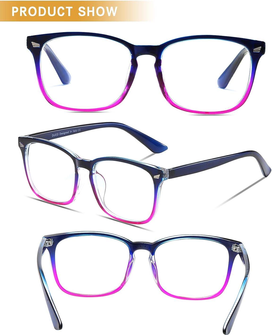 DUCO Blue Light Blocking Glasses for Women Men Computer Gaming Reading  Glasses Anti Digital Eye Strain 20