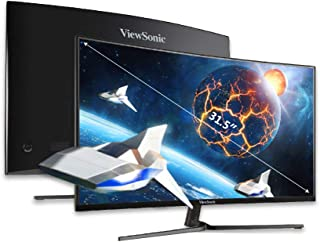 ViewSonic VX3258-2KPC-MHD 32 Inch IPS WQHD Curved Monitor with AMD FreeSync, 144Hz, 1ms, 2X HDMI, 2X DisplayPort, 120% sRG...