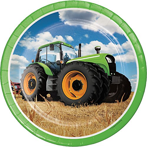 Creative Converting Traktor Mal Pappteller (8Zählen), 22,2cm