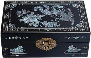 HAIHF Scatola di gioielli cinesi, dipinta a mano in legno di spinta lacca Ware regalo nozze gioielli scatola con coperchio...