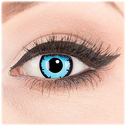 Funnylens 1 Paar farbige Crazy Fun Sky Demon Jahres Kontaktlinsen. perfekt zu Halloween, Karneval, Fasching oder Fasnacht mit gratis Kontaktlinsenbehälter ohne Stärke!