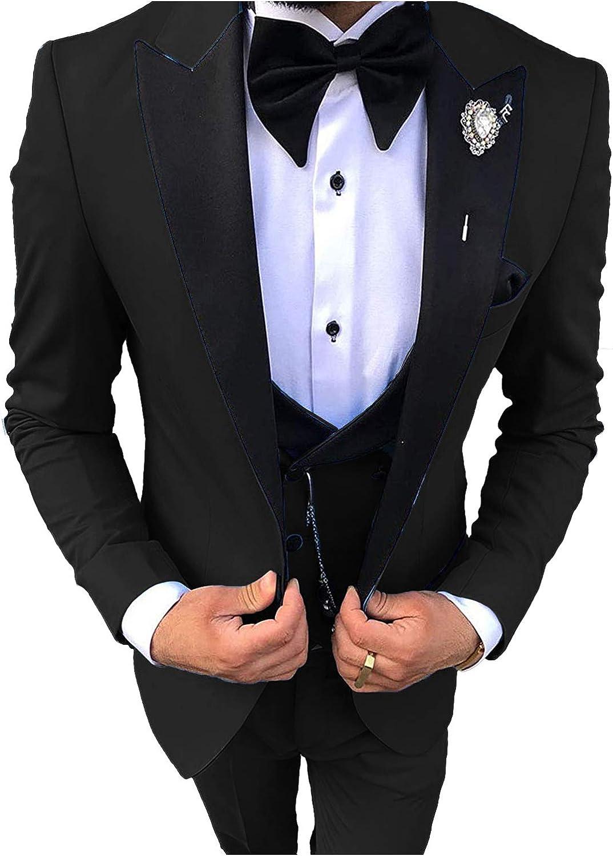 Everbeauty Wedding Dress Suits for Men Slim Fit Tuxedo for Prom 20 Piece  Shawl Lapel Jacket Vest Pants Set EXZ20