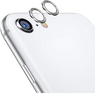TAMOWA skottsäker kamera skärmskydd för iPhone SE 2020, 2-pack aluminiumlegering 360 graders skydd bakkamera lins härdat g...