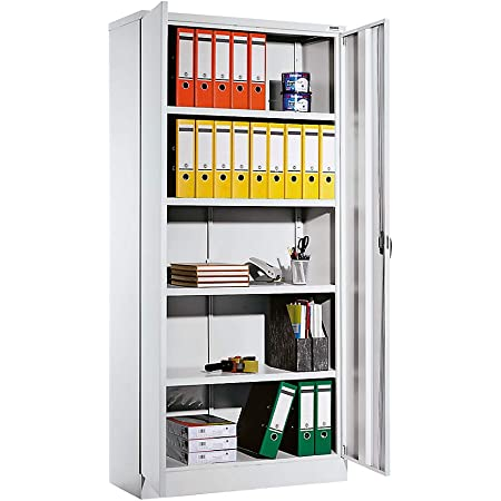 QUIPO Armoire universelle - h x l x p 1950 x 915 x 421 mm gris clair - Armoire Armoire métallique Armoire pour bureau Armoire universelle Armoires Armoires métalliques Armoires pour bureau Armoires universelles Porte battante Portes battantes Armoire de
