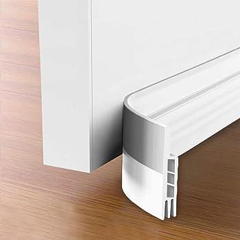 "Suptikes 2 Pack Door Draft Stopper,Door Sweep for Exterior & Interior Doors,Door Bottom Seal Dust and Noise Insulation Weather Stripping Draft Guard Insulator, 1-4/5"" W x 37"" L,White"