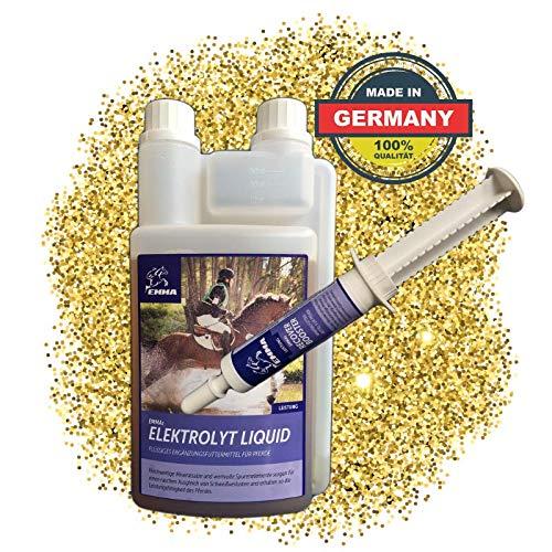 EMMA® -elektrolyten voor paarden vloeibaar I SPARSET I compensatie, mineraalverlies, na diarree I plus 1 elektrolytbooster I elektrolytdeficiëntie bij sportpaarden I 1L + 30 ml