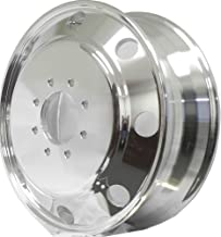 Chevy 3500 DuallyPCD:8X6.5 DUALLY WHEEL A196003 Aluminum Wheels 19.5 x 6 Hub Pilot 4package: 2pcs front polished/covers +2pcs rear polished/covers