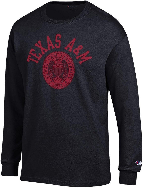 Elite Fan Shop Texas A&M Aggies Long Sleeve Tshirt Seal Black