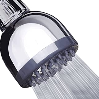 High Pressure Shower Head - 3″ Anti-clog Anti-leak Fixed Chrome Showerhead - Adjustable Metal Swivel Ball Joint with Filter - Ultimate Shower Experience Even at Low Water Flow & Pressure