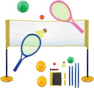 Fansport Tennis Racquet Set 3 in 1 Funny Tennis Racket Badminton Racket for Children
