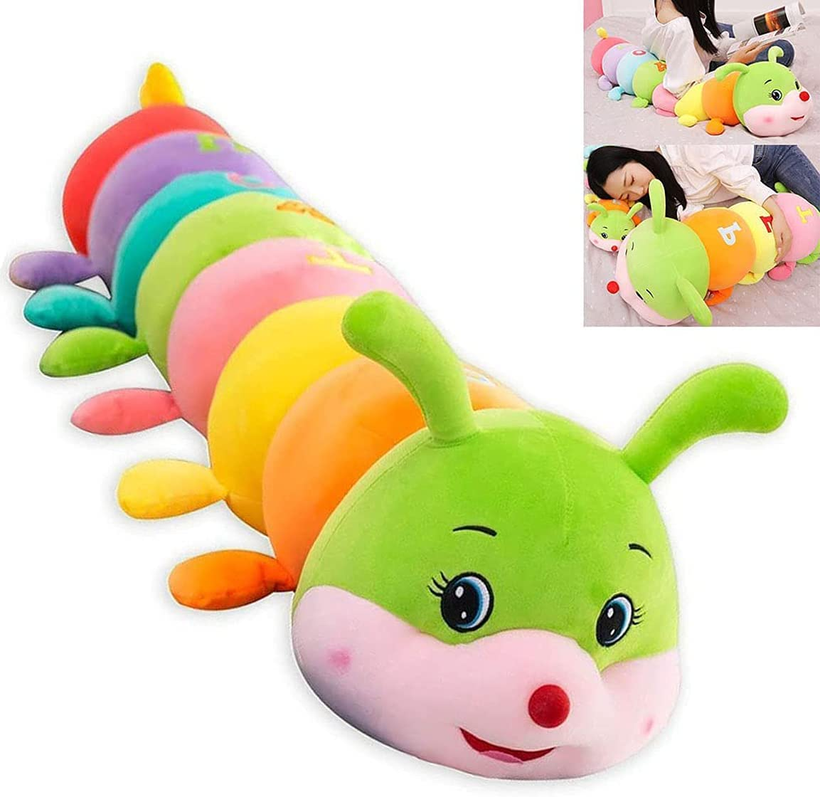 YWSM Cute Popular Fees free!! product Letter Caterpillar Toy Plush Cu