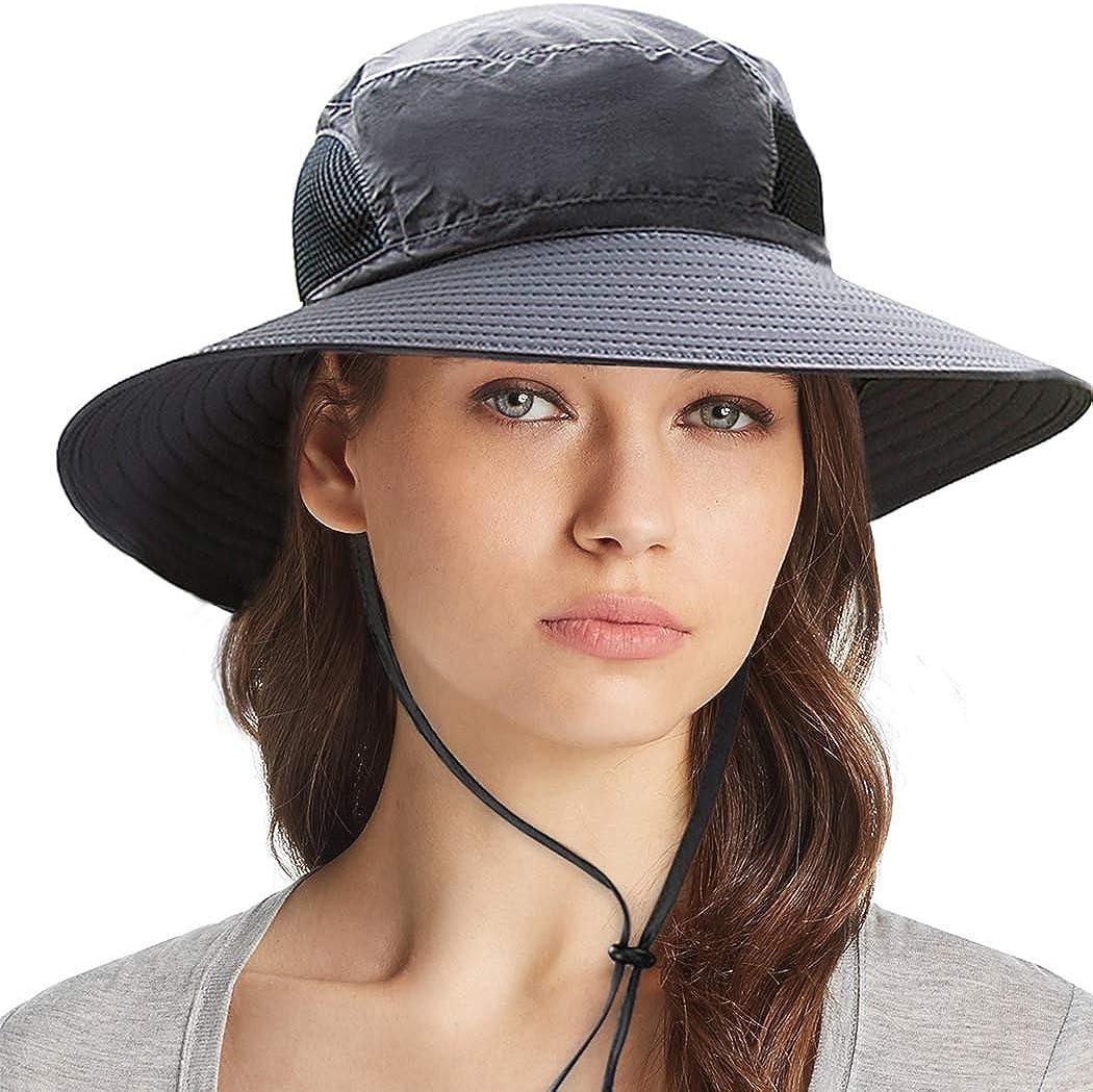 Ordenado Waterproof Sun Hat Outdoor UV Protection Bucket Mesh Boonie Hat Adjustable Fishing Cap