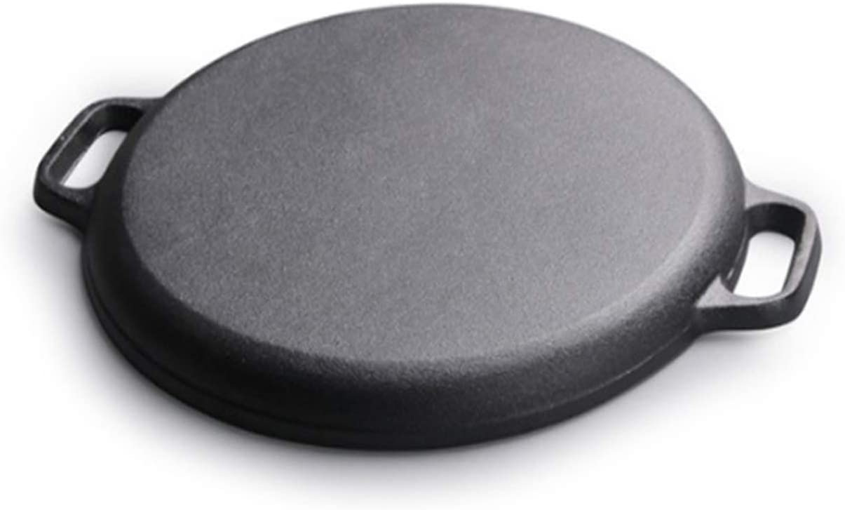 Feuille de friture de 30 cm de friture de fer non-bâton épaissie piqueuse de pancake de fer non couché (Color : Black) Black
