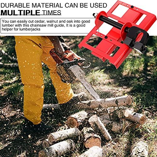 Jetec Lumber Cutting Guide Mini Vertical Chainsaw Mill Saw Steel Timber Chainsaw Attachment Portable Guide Bar Wood Cutting Tool for Milling Cutting Wood