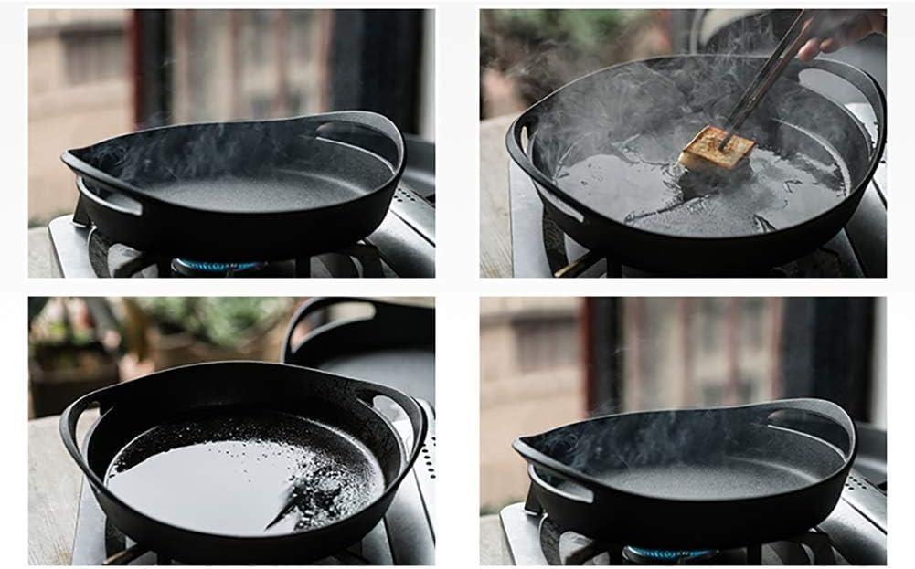 LIUSHI Casserole en Fonte avec Couvercle Vaisselle binaurale 3,5 L Revêtement en émail résistant, Induction en céramique et sans Danger pour Le gaz (Couleur: Gris) Black