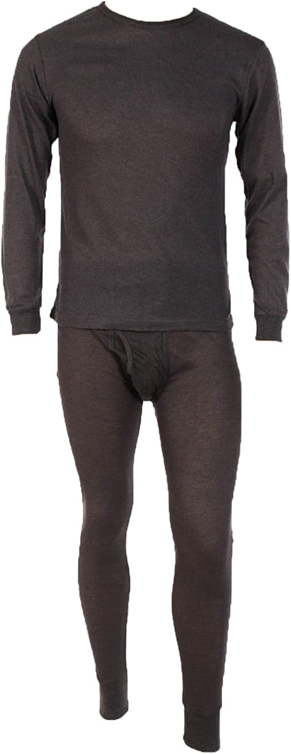 Men's Two Piece Ribbed Long Johns Thermal Underwear Set