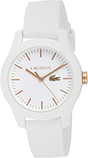 Lacoste Women's Analog Quartz Watch With Silicone Strap 2000960, White Band