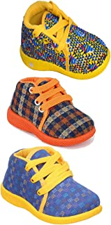 Girls Clubs Combo Causal Booties Shoe Age Group - 6 Months to 2 Year Multicolor for Kids