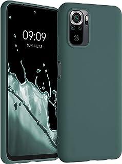 kwmobile telefoonhoesje compatibel met Xiaomi Redmi Note 10 / Note 10S - Hoesje voor smartphone - Back cover in blauwgroen