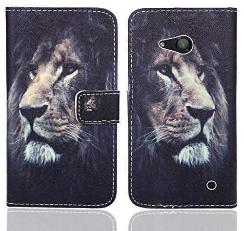 FoneExpert® Microsoft Lumia 550 Handy Tasche, Wallet Hülle Flip Cover Hüllen Etui Ledertasche Lederhülle Premium Schutzhülle für Microsoft Lumia 550 (Pattern 4)